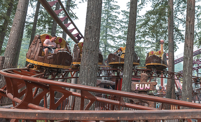 Blastin' Barrels Ride at Cultus Lake Adventure Park
