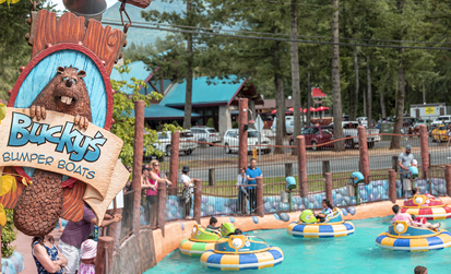 Bucky's Bumper Boats at Cultus lake Adventure park