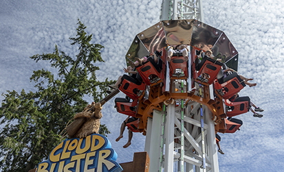 Cloud Buster thrill ride at Cultus lake Adventure Park