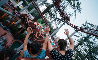 Runaway Mine train coaster at Cultus Lake Adventure Park