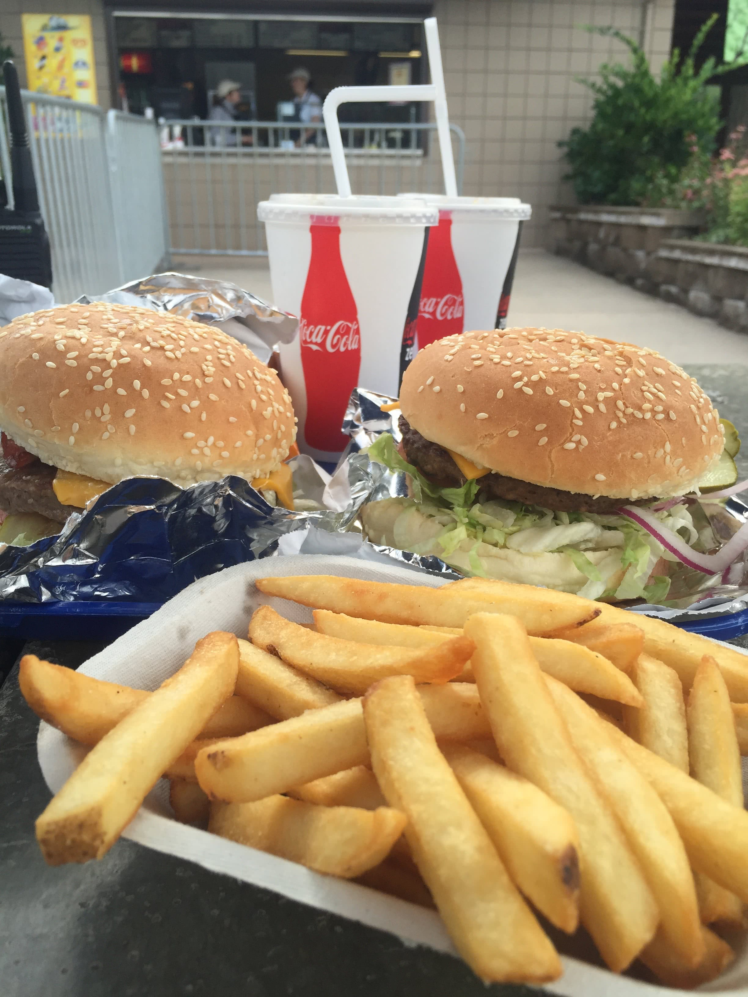 Food - Burger & Fries at Cultus Waterpark