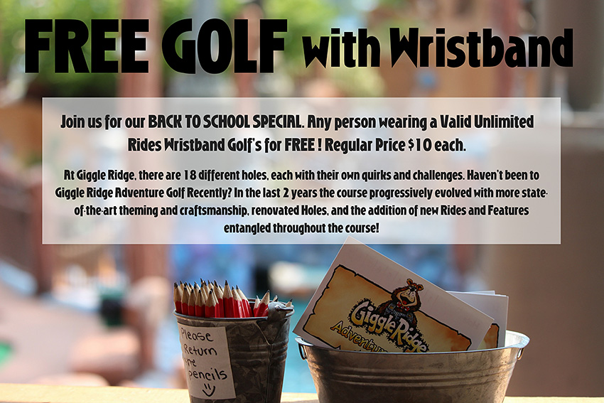 Free golf with wristband