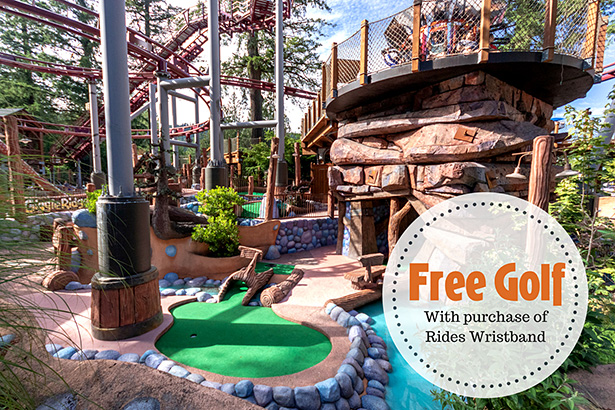 Free golf with purchase of wristband