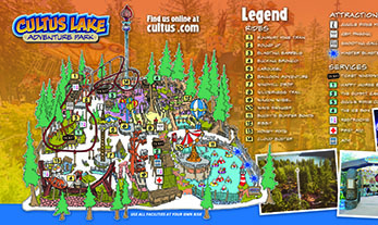 Cultus lake Adventure park map